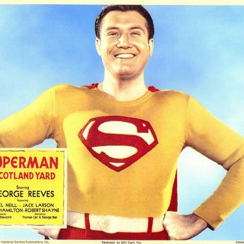 Superman in Scotland Yard (Foreign) 11x14 Movie Poster (1954)