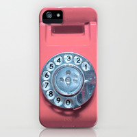 OLD PHONE - SOFT PINK EDITION for Iphone iPhone & iPod Case by Simone Morana Cyla