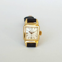 Small, elegant womans watch SLAVA GLORY. Vintage womens watch. Rare ladies mechanical watch gold plated. Russian watch for women. Gift her.