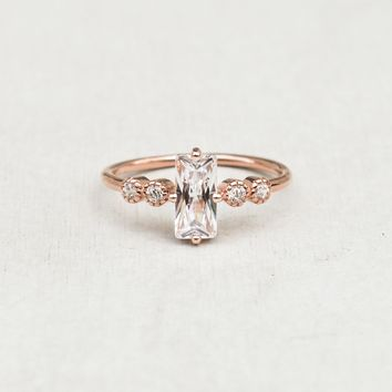 Large Baguette Ring - Rose Gold