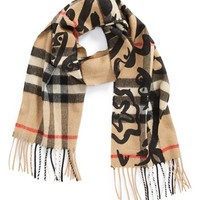 Burberry Check Cashmere Scarf - Beige