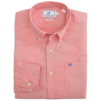 South of Broad Plaid Sport Shirt in Sunset by Southern Tide