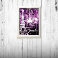PARIS poster, Eiffel Tower poster, home decor, french poetic art, Paris art, french Paris poster,french art, Eiffel Tower art print A4