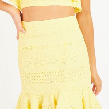 Introduce Me Skirt - Yellow