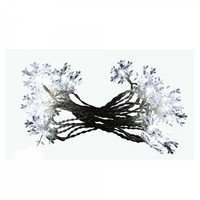SheilaShrubs.com: Snowflake String Lights with 20 White LED Lights - Display 8 (Battery Operated with Timer) by Alpine Corporation CRW116-20
