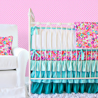 Flower Pond Ruffle Baby Bedding Set