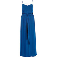 River Island Womens Blue satin maxi dress