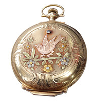ELGIN  Hunter Case Multi Gold Pocket Watch at 1stdibs