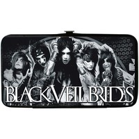 Black Veil Brides Women's Group Pose 4 Logo Monogram Girls Wallet
