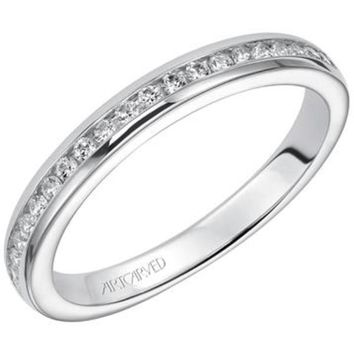 "Artcarved ""Amanda"" Channel Set Diamond Wedding Band"