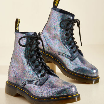 March Through Manhattan Leather Boot in Metal Crackle | Mod Retro Vintage Boots | ModCloth.com