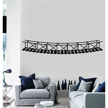 Vinyl Wall Decal Hanging Bridge Architecture Room Art Stickers Mural (g1836)