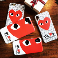 COMME DES GARCONS PLAY CDG Tide brand iPhone XS Max mobile phone case soft shell cover