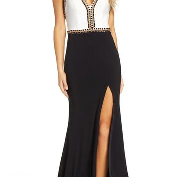 Mac Duggal Chain Jersey Gown | Nordstrom