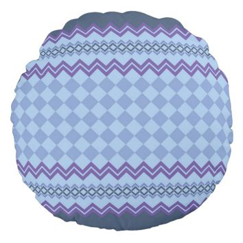 Geometric pattern round pillow
