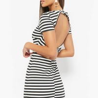 Cutout Striped Dress