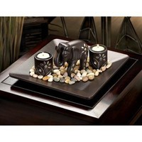 Elephant Tealight Candle Holder Set