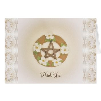 Lacey Dogwood Pentacle Handfasting Card
