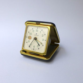Vintage collectible retro German fold up alarm clock
