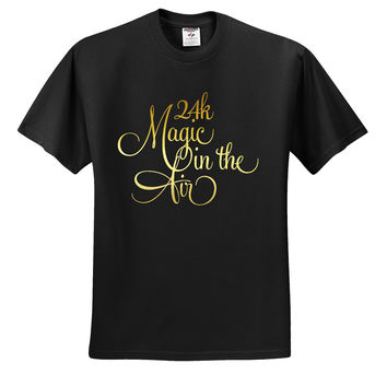 "Bruno Mars ""24k Magic in the Air"" T-Shirt"
