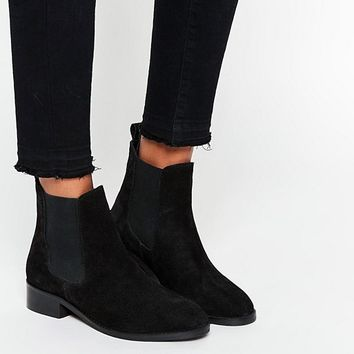 ASOS ATTRIBUTE Suede Chelsea Ankle Boots at asos.com