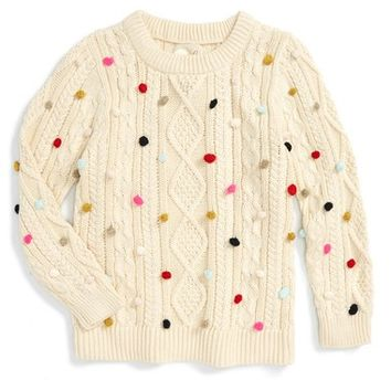 Peek 'Emerson' Cable Knit Sweater (Toddler Girls, Little Girls & Big Girls) | Nordstrom