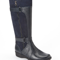 Clarks Navy Whistle Whey Leather Boot | zulily