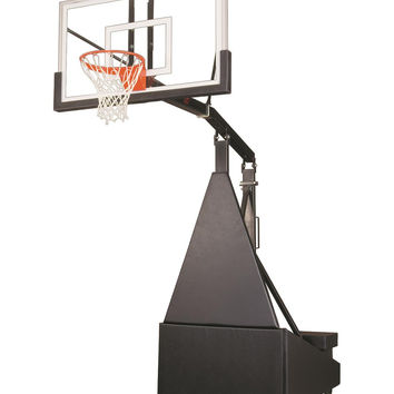 First Team Storm Pro Portable Adjustable Basketball Hoop 60 inch Tempered Glass