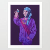 GAME OF THRONES 80/90s ERA CHARACTERS - Olenna Art Print by Mike Wrobel