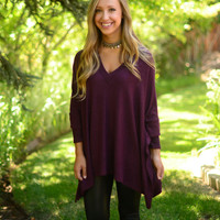 Play It Cool Tunic- Burgundy