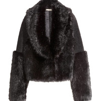 Short Faux Fur Jacket - from H&M