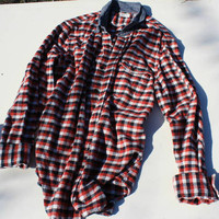 Red, White and Blue Oversized Flannel