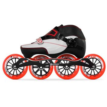 100% Original Bont Enduro 3PT Speed Inline Skates Heatmoldable Carbon Fiber Boot S-frame7 G16 100/110mm Wheels Skating Patines