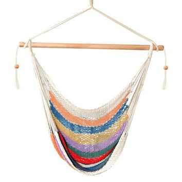 Cotton Rope Macrame Boho Colorful Hammock Chair