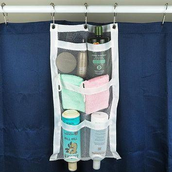 Evelots Quick Dry Hanging Shower Caddies W/ Dispenser Pockets, 5 Pockets