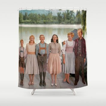 Jack Torrance in The Sound of Music Shower Curtain by Luigi Tarini
