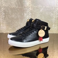 Buscemi Men's Leather Fashion Mid Top Sneakers Shoes