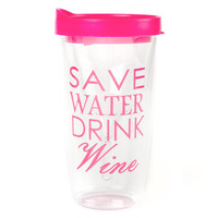 Save Water Drink Wine Wine Glass Tumbler