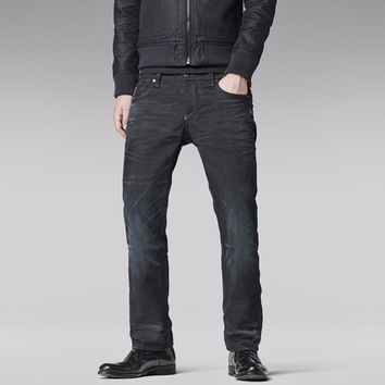 G-Star Raw Attacc Low Straight Black Hydrite MEDIUM AGED