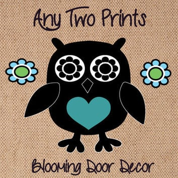 Any Two Standard Size Blooming Door Decor Burlap Prints - Purchase Two Prints through this Listing for a Special Discounted Rate!