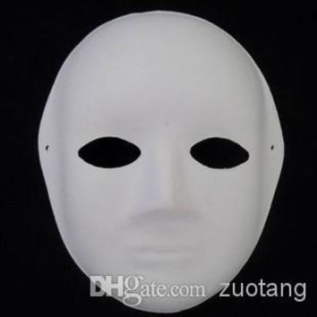 Lot of TEN Blank Paper Pulp Party Masquerade Masks DIY Fine Art Painting