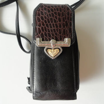 Brighton Genuine Leather Mini Crossbody Wallet Purse