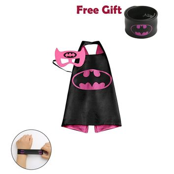Batman Costume Set  for Kids Superhero Cape Slap Mask Roleplay Dress Up Gift