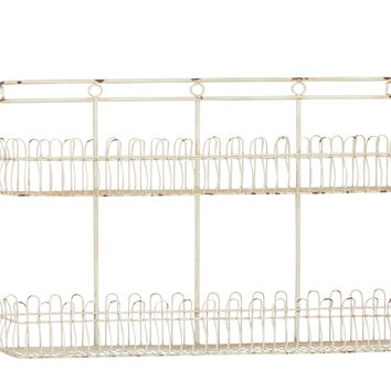 White Polished Attractive Metal Storage Shelf