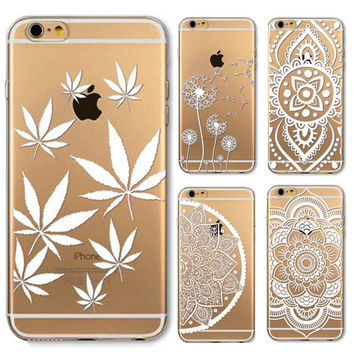 Painted Pattern Flower Henna Thin Phone Case