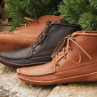 Men's Walking Boots/Canoe Sole