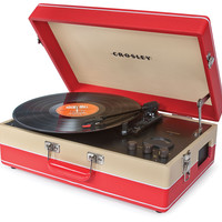 Echo Portable USB Turntable in Red & Cream design by Crosley