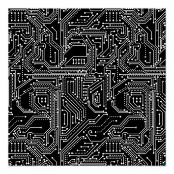 Computer Circuit Board Perfect Poster
