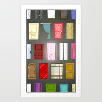 Doors Art Print by Derek Temple