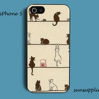 CAT iPhone 5 case iPhone 5 cases iPhone cases iPhone 5 cover personalized hard plastic iPhone case